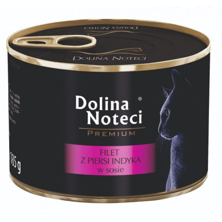 DOLINA NOTECI CAT Premium Filet z piersi indyka w sosie 185g