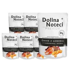 DOLINA NOTECI DOG Premium Danie z łososia z marchewką 100g