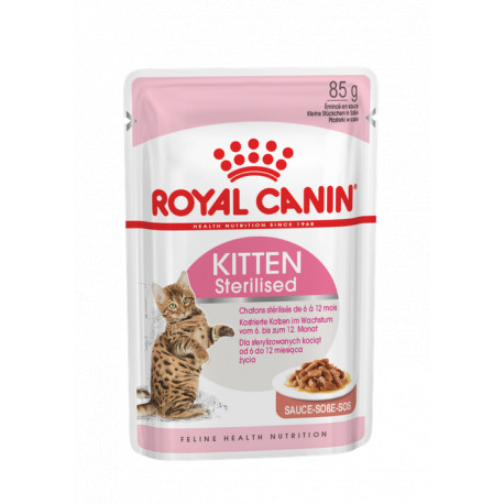 ROYAL CANIN CAT Kitten Sterilised w sosie saszetka