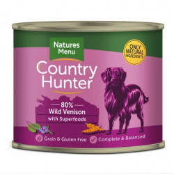 NATURES MENU DOG Country Hunter 80% Dziczyzna i jagody 600g