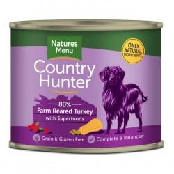 NATURES MENU DOG Country Hunter 80% Indyk i żurawina 600g