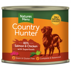 NATURES MENU DOG Country Hunter 80% Łosoś z malinami 600g