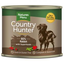 NATURES MENU DOG Country Hunter 80% Królik z żurawiną 600g