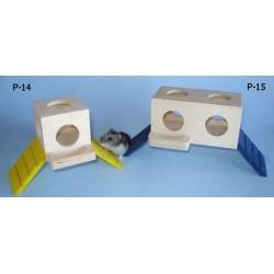 PINOKIO zabawka dla gryzoni z karmidełkiem