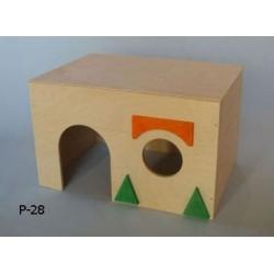 PINOKIO Domek z płaskim dachem dla gryzoni