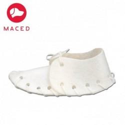 MACED But biały ze skóry wołowej