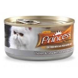 PRINCESS CAT Premium Range Tuńczyk z kurczakiem i małżami 170g puszka
