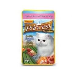 PRINCESS CAT Premium Kurczak z tuńczykiem i krewetkami 70g saszetka