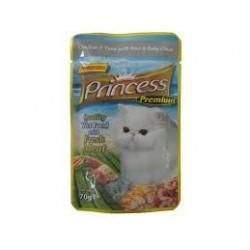 PRINCESS CAT Premium Kurczak z tuńczykiem i małżami 70g saszetka