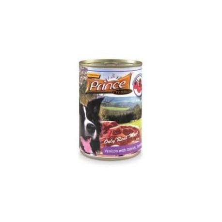 PRINCE Premium Jeleń/Struś/Pomidory/Marchewka 400g