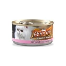 PRINCESS CAT Premium Range Tuńczyk z kurczakiem i krewetkami 170g puszka