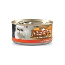PRINCESS CAT Premium Range Tuńczyk z kurczakiem i krabami 170g puszka