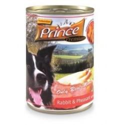 PRINCE DOG Premium Królik z kuropatwą, dynią i morelami 400g puszka