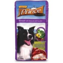 PRINCE DOG Jeleń z brokułami i cukinią 150g saszetka