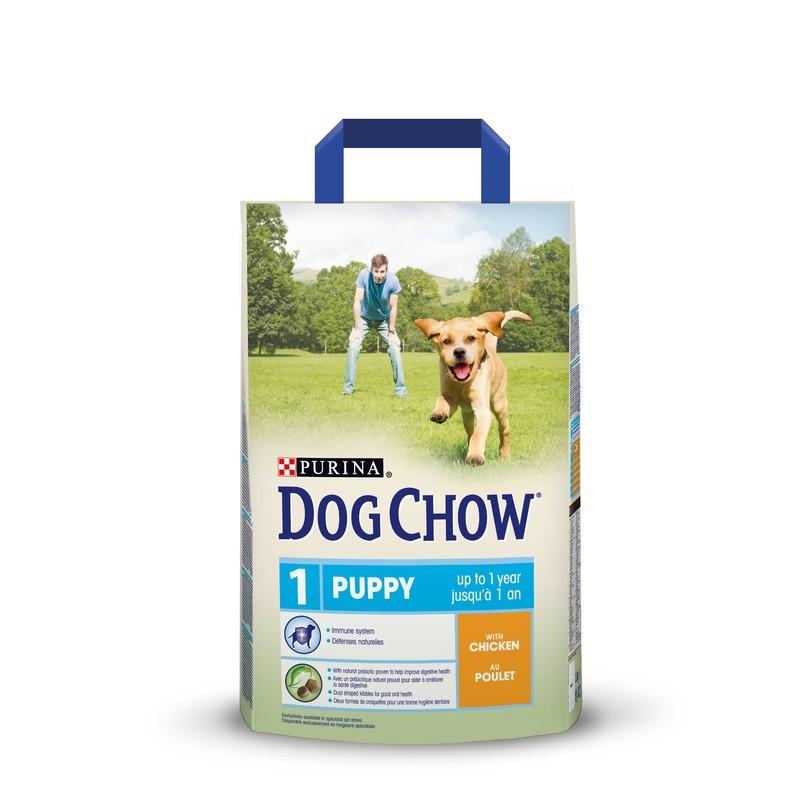 Dog Chow Puppy Junior сухой корм для щенков мелких пород (курица)