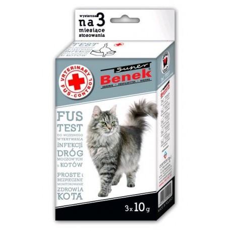 BENEK SUPER Fus Test 3x10g dla kota