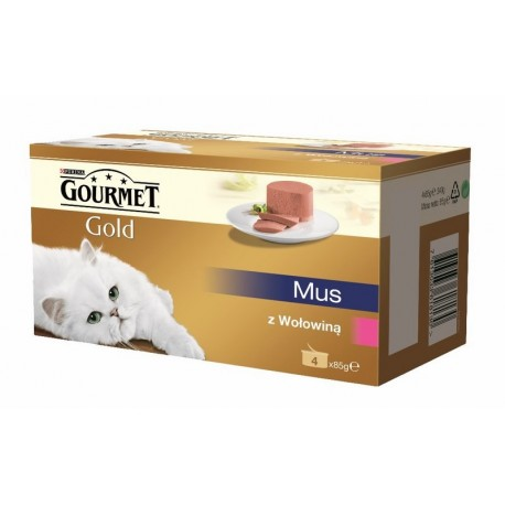 GOURMET PERLE GOLD Mus 4x85g puszka