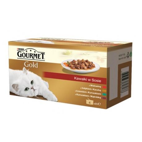 GOURMET GOLD Kawałki w sosie 4x85g puszka
