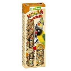 NESTOR Kolba 2w1 biszkoptowa i miodowa dla średnich papug 2szt.