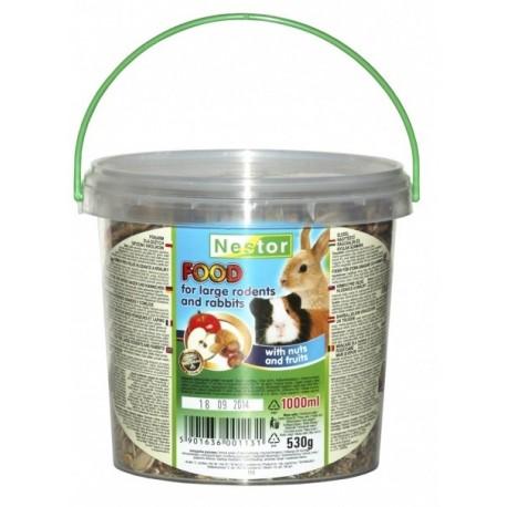 NESTOR Pokarm owocowo - orzechowy dla dużych gryzoni i królików 1000ml