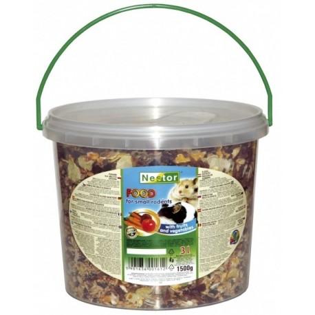 NESTOR Pokarm owocowo - warzywny dla małych gryzoni i królików 1000ml