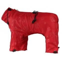 GF Skafander przeciwdeszczowy w łapki czerwony