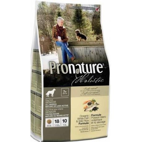 PRONATURE HOLISTIC Dog Senior or Less Active Oceanic White Fish & Wild Rice