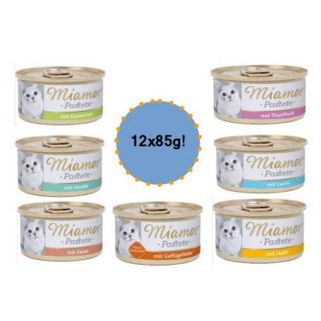 MIAMOR Pastete Adult 12x85g mix smaków