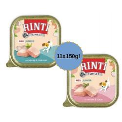RINTI Feinest Junior 11x150g mix smaków dla szczeniąt