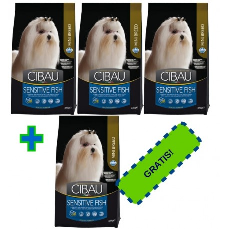 FARMINA CIBAU Adult Sensitive Fish Mini 3x2,5kg + 2,5kg GRATIS PROMOCJA