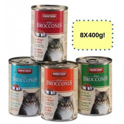 ANIMONDA CAT Brocconis 8x400g mix smaków ZESTAW