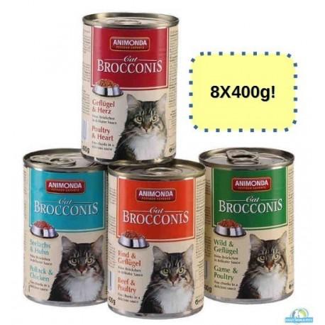 ANIMONDA CAT Brocconis 8X400g mix smaków ZESTAW