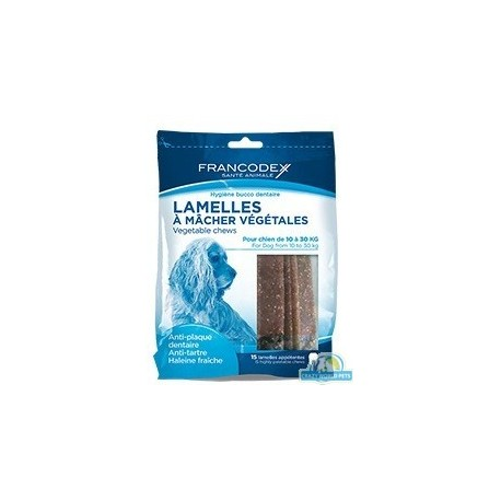 FRANCODEX Paski do gryzienia małe usuwające kamień i brzydki zapach z pyska 224 g/15 pasków
