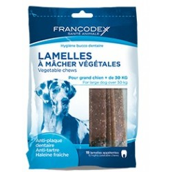 FRANCODEX Paski do gryzienia średnie usuwające kamień i brzydki zapach z pyska 350 g/15 pasków