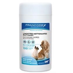 FRANCODEX Chusteczki do czyszczenia oczu, uszu, łap psów 50szt
