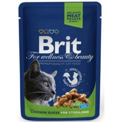 BRIT Premium Cat Adult Sterilised 100g saszetka