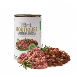 BRIT Boutiques Gourmandes Dog Adult True Meat Bits 400g puszka